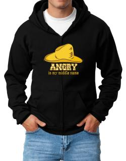 Angry Is My Middle Name Zip Hoodie - Mens