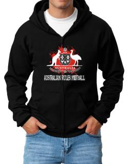 Australia Australian Rules Football / Blood Zip Hoodie - Mens