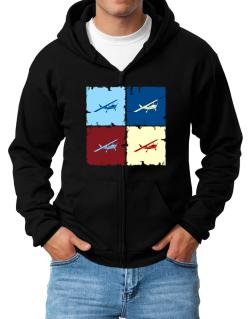 """ Aerobatics - Pop art "" Zip Hoodie - Mens"