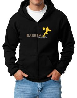 Baseball - Only For The Brave Zip Hoodie - Mens