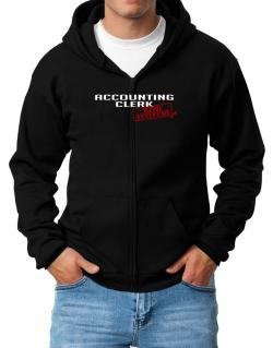 Accounting Clerk With Attitude Zip Hoodie - Mens
