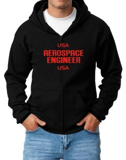 Usa Aerospace Engineer Usa Zip Hoodie - Mens