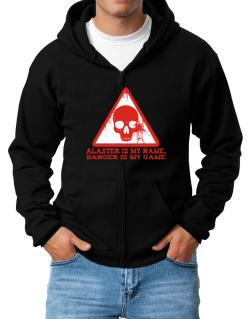 Alaster Is My Name, Danger Is My Game Zip Hoodie - Mens