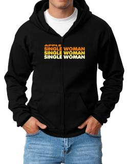 Apple Single Woman Zip Hoodie - Mens