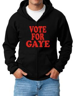 Vote For Gaye Zip Hoodie - Mens