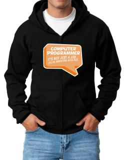 """ Computer Programmer ""  Adventure with pay Zip Hoodie - Mens"