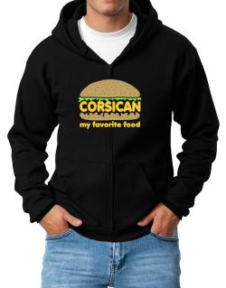 Corsican My Favorite Food Zip Hoodie - Mens