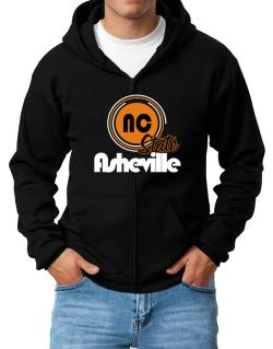 Asheville - State Zip Hoodie - Mens