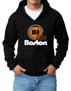 Boston - State Zip Hoodie - Mens