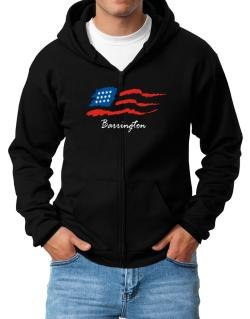 Barrington - Us Flag Zip Hoodie - Mens