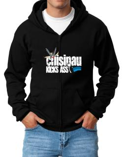Chisinau Kicks Ass Zip Hoodie - Mens