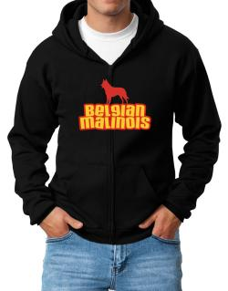 Breed Color Belgian Malinois Zip Hoodie - Mens