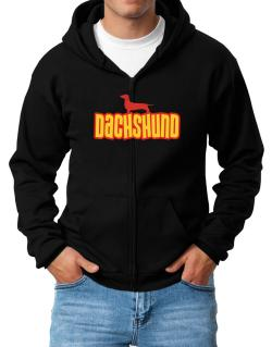 Breed Color Dachshund Zip Hoodie - Mens