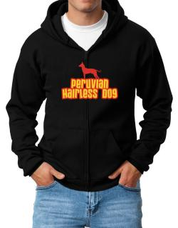 Breed Color Peruvian Hairless Dog Zip Hoodie - Mens