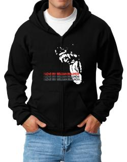 I Love My Belgian Malinois Zip Hoodie - Mens