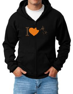 I love Australian Cattle Dogs Zip Hoodie - Mens
