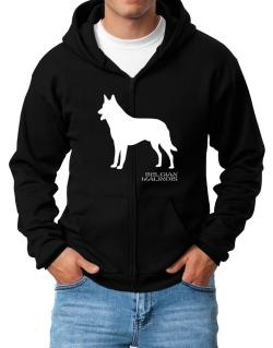 Belgian Malinois Stencil / Chees Zip Hoodie - Mens