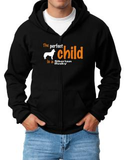 The Perfect Child Is A Siberian Husky Zip Hoodie - Mens