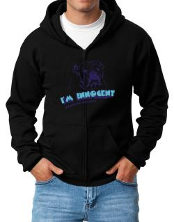 I'm Innocent American Bulldog Zip Hoodie - Mens