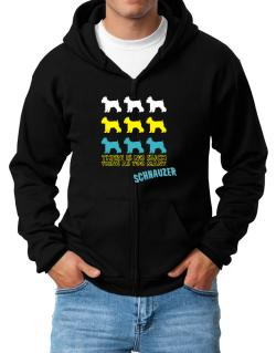 """ THERE IS NO SUCH THING AS TOO MANY Schnauzer "" Zip Hoodie - Mens"