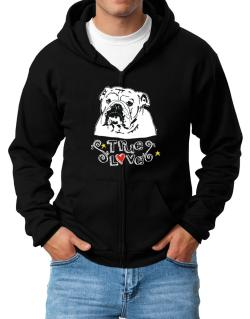 American Bulldog True Love Zip Hoodie - Mens
