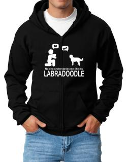 No One Understands Me Like My Labradoodle Zip Hoodie - Mens