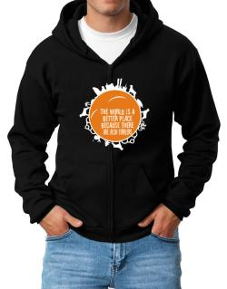 Better Place Irish Terriers Zip Hoodie - Mens