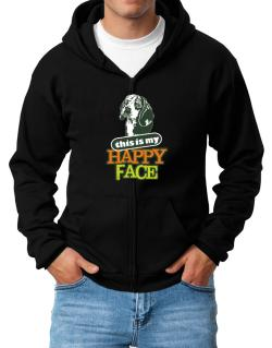Happy Face Beagle Zip Hoodie - Mens