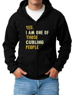 Yes I Am One Of Those Curling People Zip Hoodie - Mens