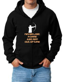 Archery Never Lost A Game Just Ran Out Of Time Zip Hoodie - Mens