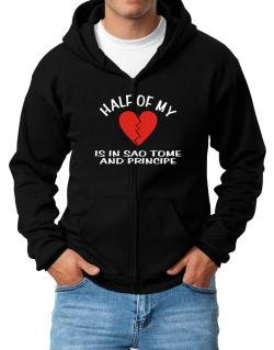 Half Of My Heart Is In Sao Tome And Principe Zip Hoodie - Mens
