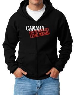 Canada No Place For The Weak Zip Hoodie - Mens