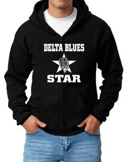 Delta Blues Star - Microphone Zip Hoodie - Mens