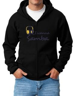 I Wanna Samba - Headphones Zip Hoodie - Mens