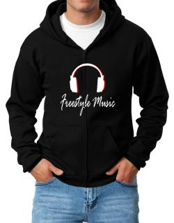 Freestyle Music - Headphones Zip Hoodie - Mens