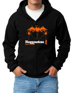 """  Reggaeton plugged into the sound "" Zip Hoodie - Mens"