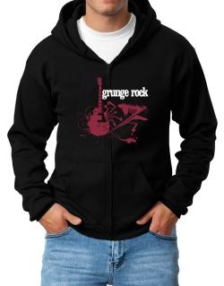 Grunge Rock - Feel The Music Zip Hoodie - Mens