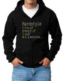 Hardstyle The Rest Is Silence... Zip Hoodie - Mens