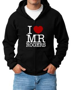 I Love Mr Rogers Zip Hoodie - Mens