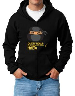 Carrer Goals: Accounting Clerk - Ninja Zip Hoodie - Mens