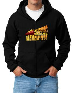 Support Your Local Nazarene Sect Zip Hoodie - Mens
