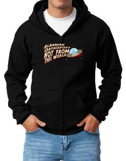 Albanian Orthodoxy Not From This World Zip Hoodie - Mens