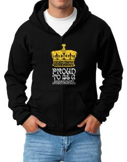 Proud To Be A Missionary Episcopalian Zip Hoodie - Mens
