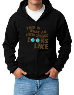 This Is What An African Orthodox Looks Like Zip Hoodie - Mens