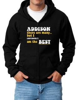 Addison There Are Many... But I (obviously) Am The Best Zip Hoodie - Mens
