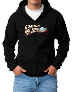 Boating Not From This World Zip Hoodie - Mens