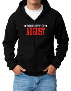 """ Property of August "" Zip Hoodie - Mens"