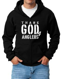 Thank God For Anglers Zip Hoodie - Mens