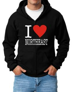 I Love Northeast Zip Hoodie - Mens