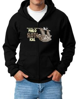 Philosophical Sloth Zip Hoodie - Mens